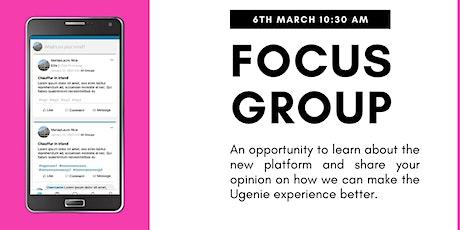 Ugenie Focus Group tickets