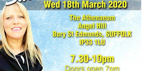 An Evening of Mediumship with the wonderful Sue Hind Wed 18/03/20 7pm-10pm tickets