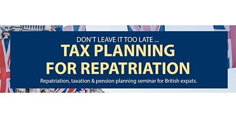 TAX Planning for Repatriation tickets