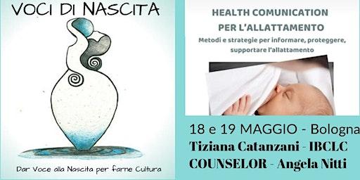 HEALTH COMMUNICATION - NEL SOSTEGNO ALL'ALLATTAMENTO