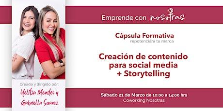 Workshop - Creación de contenidos para social media + storytelling entradas