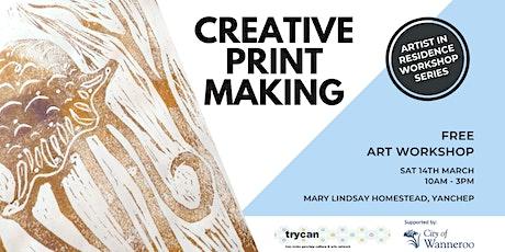 Creative Print Making Workshop tickets