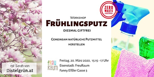 Workshop Burgenland: Giftfreier Frühlingsputz