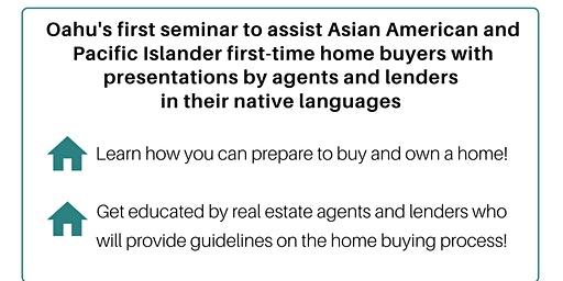 FREE Home Buyer Seminar taught in Japanese, Cantonese, Korean & Vietnamese