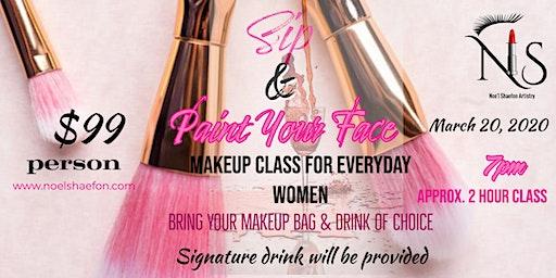 Sip & Paint Your Face Makeup Class