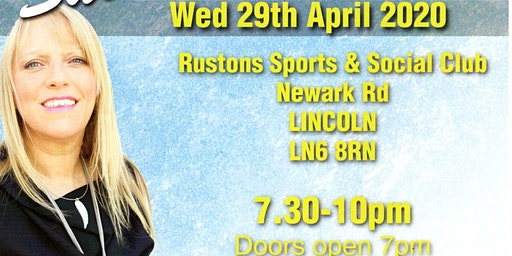 An Evening of Mediumship with the wonderful Sue Hind Wed 29/04/20 7pm-10pm