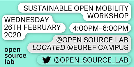 Sustainable Open Mobility Workshop Tickets