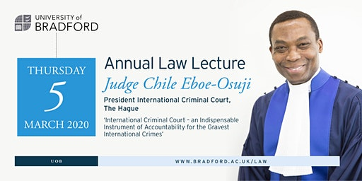 Annual Law Lecture:  Judge Chile Eboe-Osuji