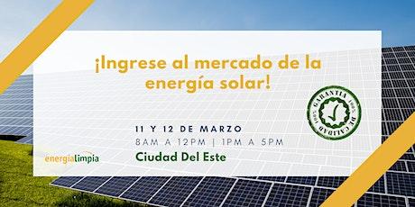 ¡Ingrese al mercado de la energía solar! Curso Técnico y práctico entradas