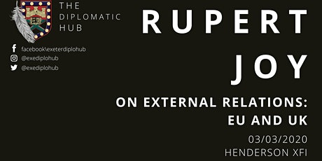 Rupert Joy: On External Relations - EU and UK tickets