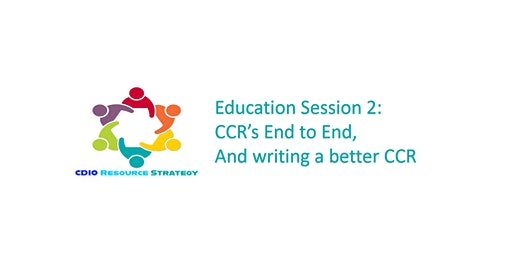 CDIO CCR's and Statement of Work Education Sessions