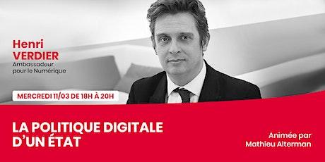 Henri Verdier - La politique digitale d'un État billets