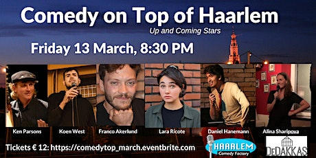Comedy on Top of Haarlem - Up and Coming Stars tickets
