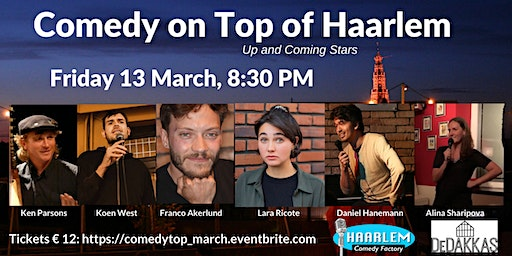 Comedy on Top of Haarlem - Up and Coming Stars