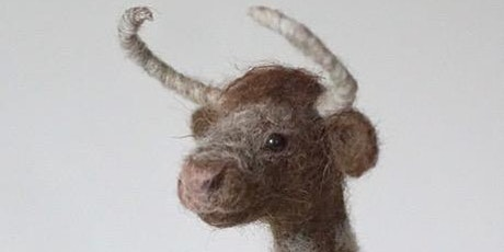 Needle Felted Longhorn Cow with Jo Gardiner tickets