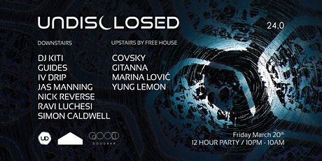 UNDISCLOSED 24.0 tickets