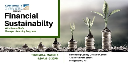 *Rescheduled* Financial Sustainability - SOUTH SHORE