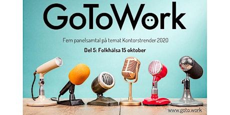 FOLKHÄLSA  Panelsamtal på Zoom 15 oktober biljetter