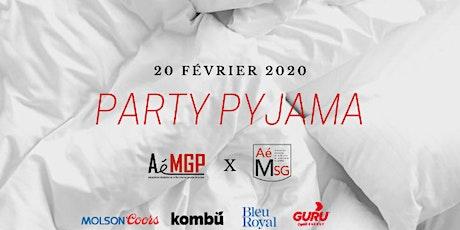 Party pyjama AéMGP X AéMSG billets