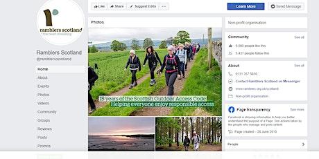 Ramblers Scotland social media training tickets