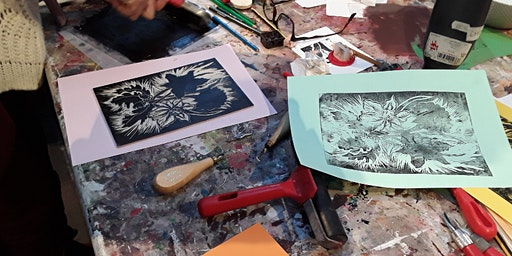 Lino Cutting with professional artist Ros Ingram