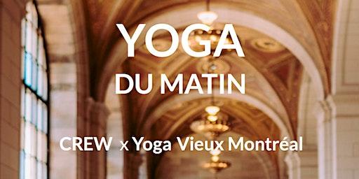Yoga matinal au Crew Café avec Yoga Vieux Montréal