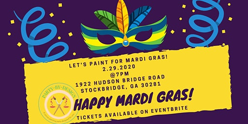 MARDI GRAS PAINT & SIP PARTY