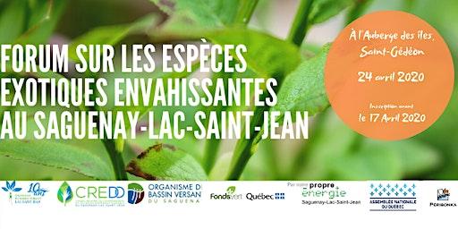 Forum régional sur les EEE au Saguenay-Lac-Saint-Jean