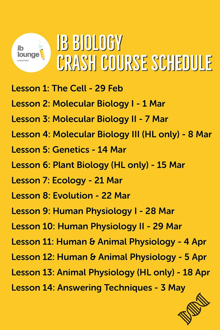 A Step Closer to a 7: IB Biology Examination Crash Course image