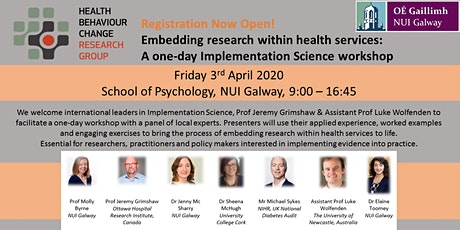 Embedding research within health services: Implementation Science workshop tickets