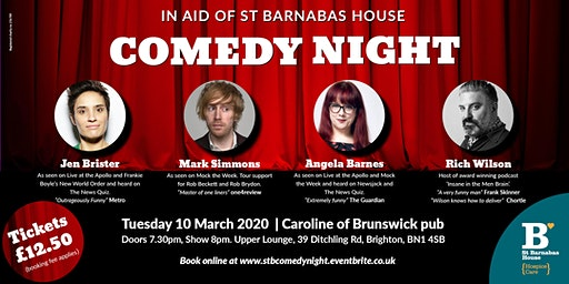 St Barnabas House Comedy Night