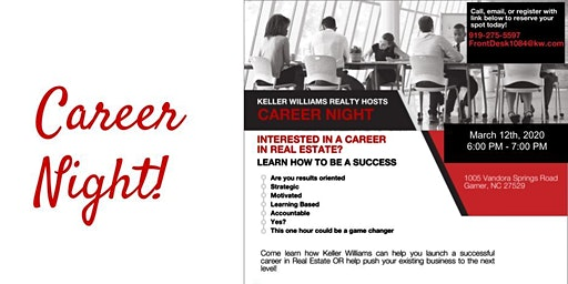 Career Night - March 12