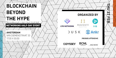 Blockchain Beyond the Hype: Networking Evening tickets