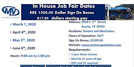 MV Transportation In House Job Fair tickets
