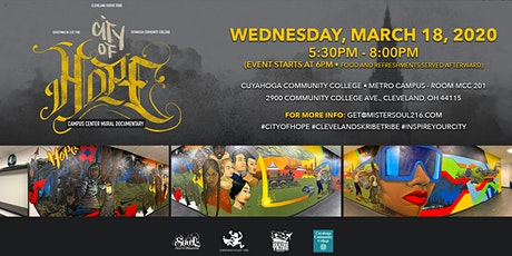 """""""City Of Hope"""": Tri-C Metro Campus Center Mural Documentary Discussion tickets"""