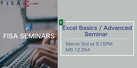 FISA Presents: Excel Basics / Advanced Seminar tickets