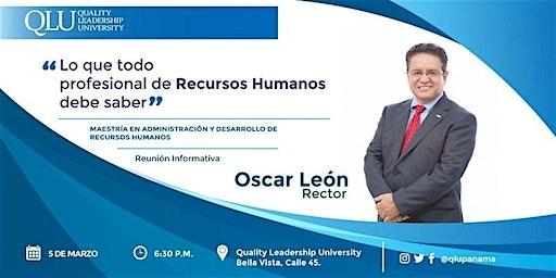 Charla informativa: Maestría en Administración y Desarrollo de Recursos Humanos