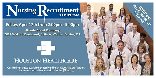 Houston Healthcare's Nursing Recruitment Spring 2020 - Atlanta Bread Co