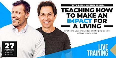LIVE: TONY ROBBINS & DEAN GRAZIOSI Event! (Boston) *HAPPENING 2/27/20* tickets