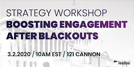 Boosting Engagement After Blackouts Strategy Workshop tickets