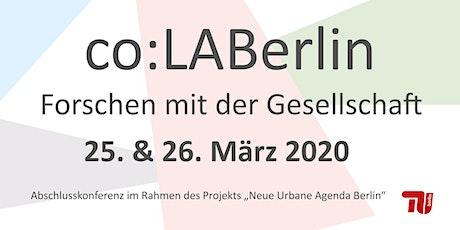 Konferenz co:LABerlin - Forschen mit der Gesellschaft  Tickets
