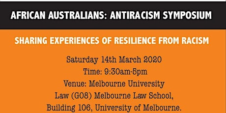 AFRICAN AUSTRALIANS: ANTI-RACISM SYMPOSIUM tickets