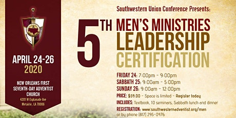 5th Men's Ministries Leadership Certification tickets