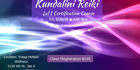 Kundalini Reiki Level 1 Certification Class tickets