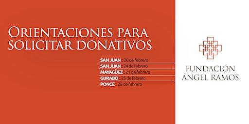Orientaciones para solicitar donativos a la Fundación Ángel Ramos
