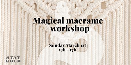 Magical macramé workshop tickets