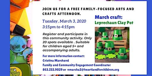Copy of Crafty Eagles March- Leprechaun Clay Pot