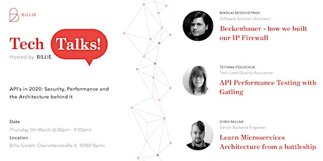 Tech Talks at Billie tickets