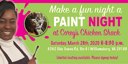 Paint Night at Corey's Chicken Shack