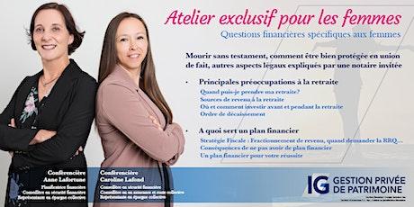 Les femmes et la retraite billets